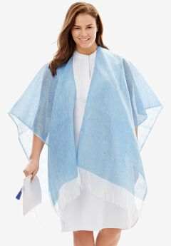 Packable Cover Up, BLUE, hi-res