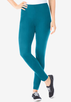 Stretch Cotton Legging, DEEP TEAL