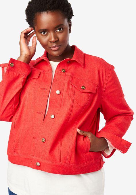 Stretch Denim Jacket Plus Size Jackets Woman Within