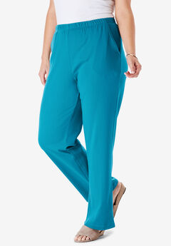 7-Day Knit Wide Leg Pant, LAGUNA BLUE