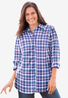 Perfect Long-Sleeve Button Down Shirt,