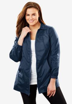 Zip Front Nylon Jacket,