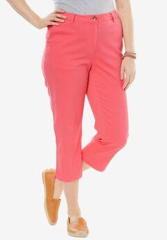 Summer capri pants, CORAL ROSE, hi-res