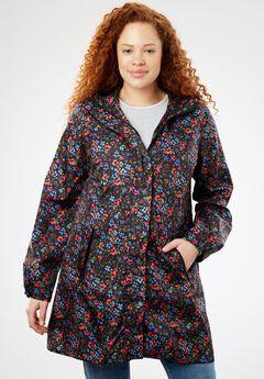 Packable Anorak Raincoat, MULTI FLORAL
