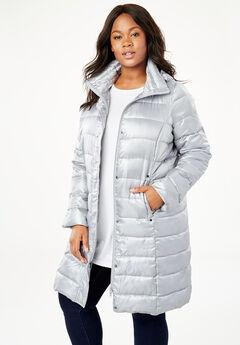 Long Packable Puffer Jacket,