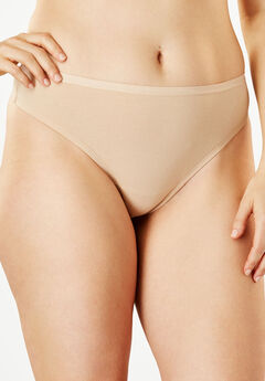 Thong Panty By Comfort Choice®, NUDE, hi-res