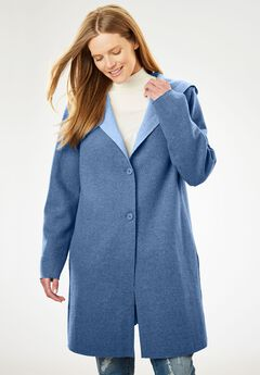 Double-Faced Wool-Blend Coat,