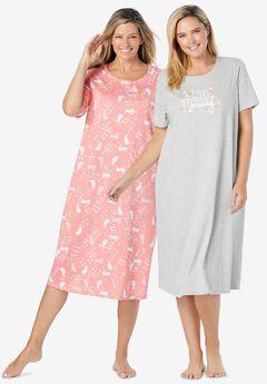 2-Pack Long Sleepshirts ,