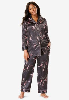 Luxe Satin Pajama Set by Amoureuse®,