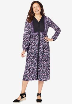 Bib Button-Front Dress,