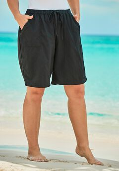 Taslon® Coverup Board Shorts with Built-In Brief,