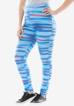 Stretch Cotton Printed Legging,