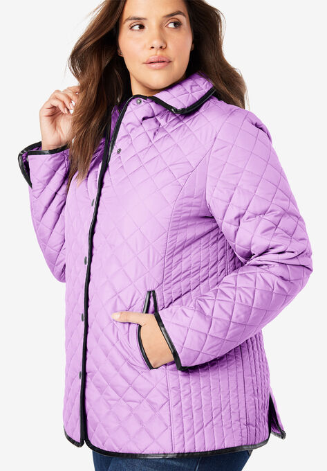 0fb795360 Quilted Snap-Front Jacket