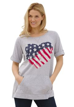 Super soft Americana flag tee,