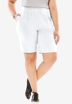 Stretch Cotton Easy Short, WHITE, hi-res