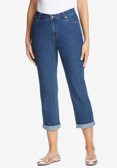 Girlfriend Stretch Jean, MEDIUM STONEWASH