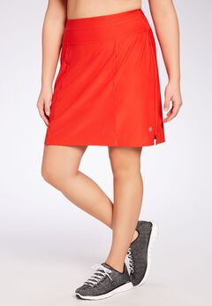 The sport skort by FullBeauty SPORT®, ELECTRIC RED, hi-res