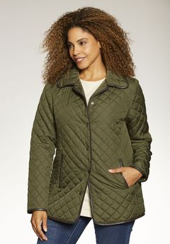 Light quilted snap-front jacket,