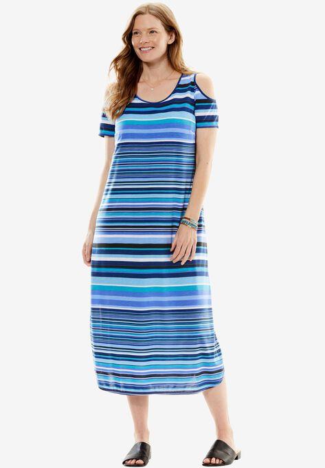 Cold Shoulder A-Line Dress