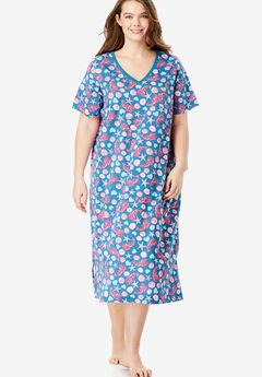Long Print Sleepshirt by Dreams & Co.®, RIVER BLUE LOBSTER