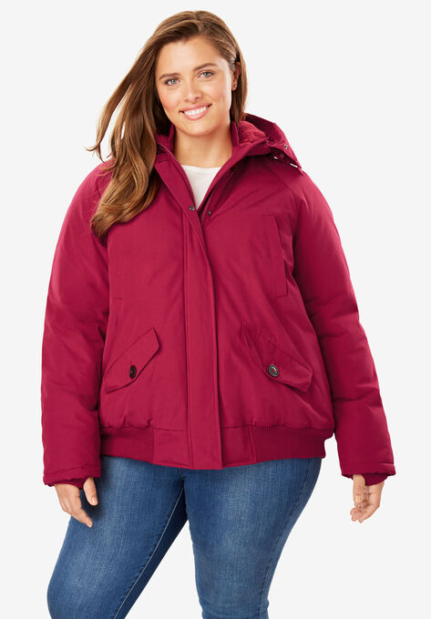 3956204a37f Hooded Arctic Bomber Jacket