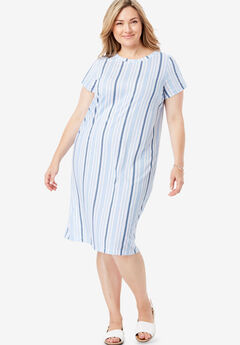Ruched Sleeve Tee Dress,