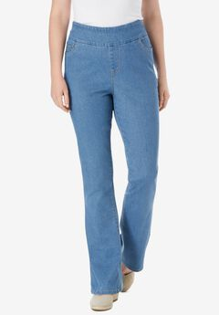 Pull-On Bootcut Jean, LIGHT STONEWASH