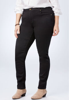 Perfect Straight Leg Jean, BLACK DENIM