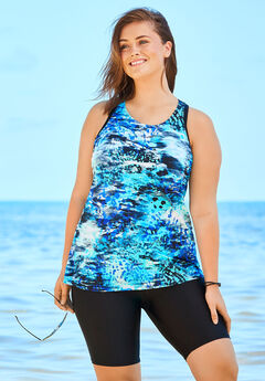 Longer Length Tankini Top by Swim 365,