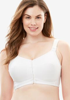 Cooling Posture Bra by Comfort Choice®, WHITE, hi-res