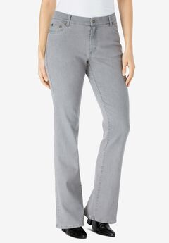 Bootcut Stretch Jean, GREY SANDED WASH