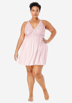 Lace Trim Babydoll by Amoureuse®,