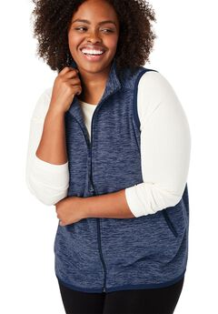 Vest in soft, cozy anti-pilling fleece,