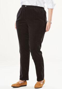 Comfort Waist Straight Leg Corduroy Pant,