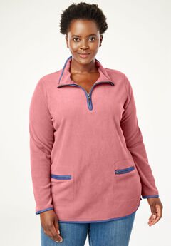 c1a8546f22e Quarter-Zip Microfleece Mock Neck Sweatshirt
