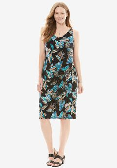 Side-Ruched Travel Mixer Dress,