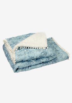 Pom-pom Throw & Pillowcase,
