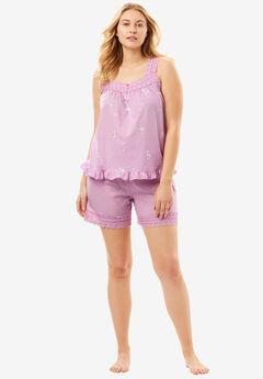 2-Piece PJ Shorts Set by Dreams & Co.®, ORCHID PINK, hi-res