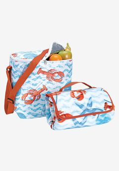 2PC Cooler bag & beach blanket set,