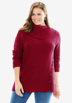 Button-Neck Sweater,