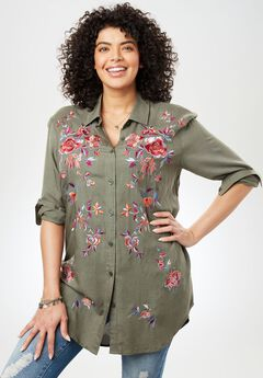 Embroidered Tunic Shirt,