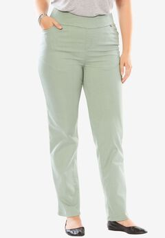 Straight Leg Smooth Waist Jean, DUSTY JADE, hi-res