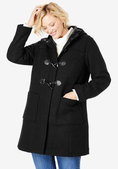 Classic duffle coat, BLACK, hi-res