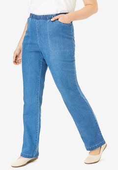 Bootcut Fineline Jean, LIGHT STONEWASH