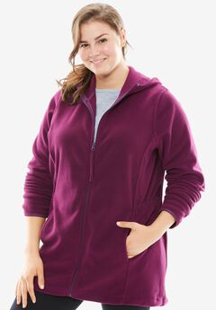 Microfleece Parka, BOYSENBERRY, hi-res