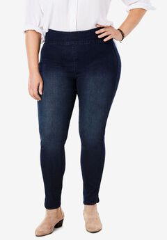 The Curvy Pull On Jegging, , hi-res
