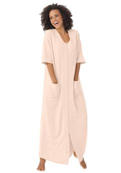 Long French Terry Robe by Dreams & Co.®,
