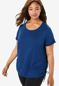 FullBeauty SPORT® Side-Cinched Tunic,