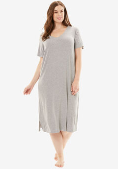 Ribbed Short Lounge Dress by Dreams & Co.®,
