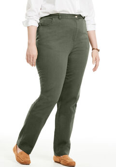 Cotton Straight Leg Jean, SAGE GRASS